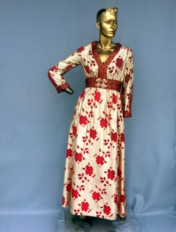 spectacular vintage 70s evening dress- luxurious s