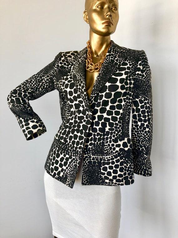 ANNA SUI vintage 1990s cotton jacket- black and wh