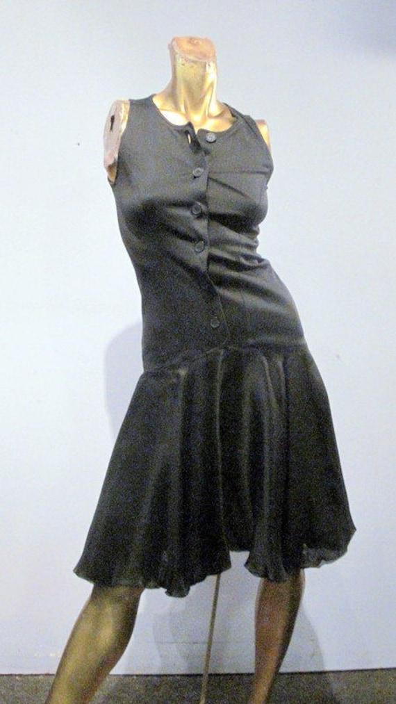 vintage 90s FENDI dress, beautiful black silk and