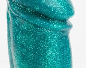 Adam Effulgence Collection Silicone Dildo Safe Sex Toy Hypoallergenic Glitter Sparkly Dildo