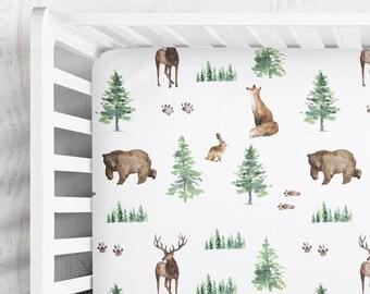 Personalized crib sheet Personalized Woodland Crib Sheet Woodland Name Crib Sheet Rustic Sheet Tribal Crib Sheet Mountain Crib Sheet