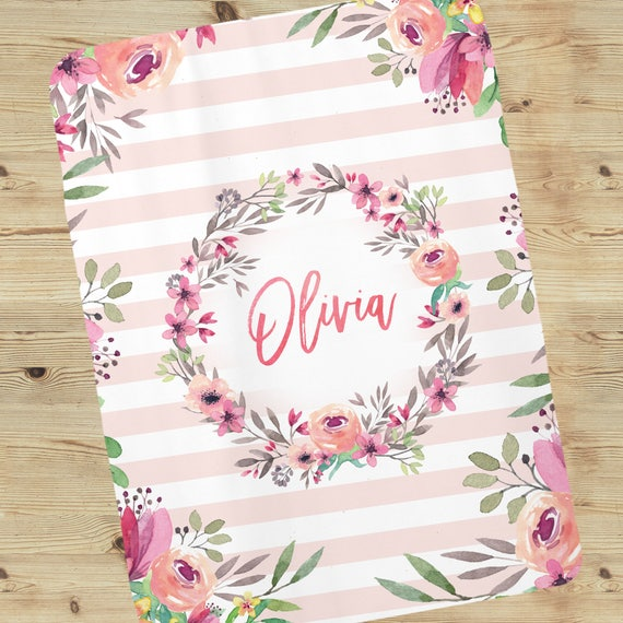 Personalized Baby Blanket Personalized Baby Gifts Customized Blankets Custom Blankets Blankets Baby Girl Monogrammed Blanket Baby Gif