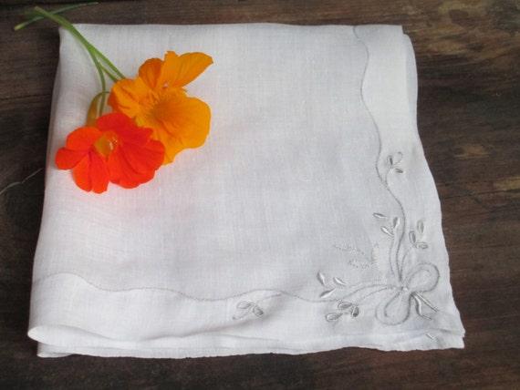 Sweet Simple Vintage Wedding Handkerchief Sheer White On Etsy