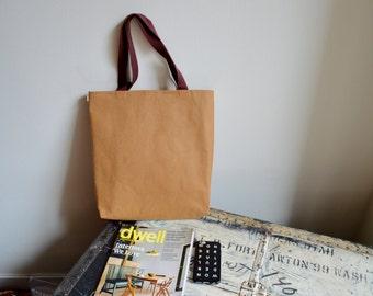 Sac cabas en papier Kraft en lavable / sac à main - respectueuse de l'environnement