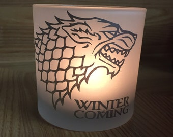 Game of Thrones Stark Wolf Candleholder