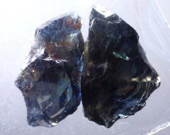 Natural Untreated Parti Sapphire-Kenya 11.32 Ct TW Natural Rough 3 pcs-Facet Grade