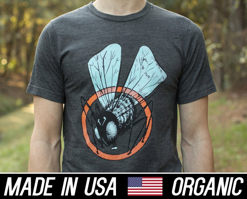Classic Horror Tee the fly ...Tee is American made image 0