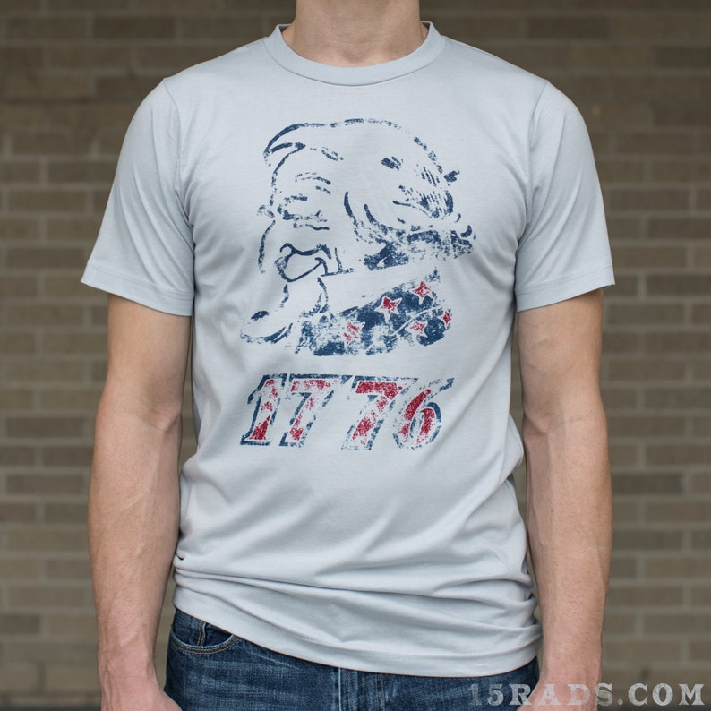 America Shirt Uncle Sam 'Murica Patriotic T-shirt Organic image 0