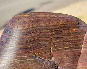 W.79 Magnetic Banded Iron Ironstone Formation Genesis Stone tiger iron WYOMING BIF Hematite Magnetite Jasperite