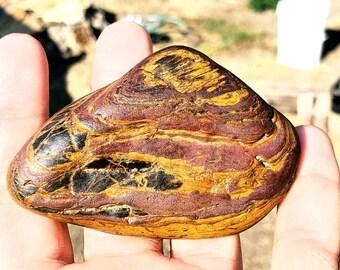 W.78 Magnetic Banded Iron Ironstone Formation Genesis Stone tiger iron WYOMING BIF Hematite Magnetite Jasperite