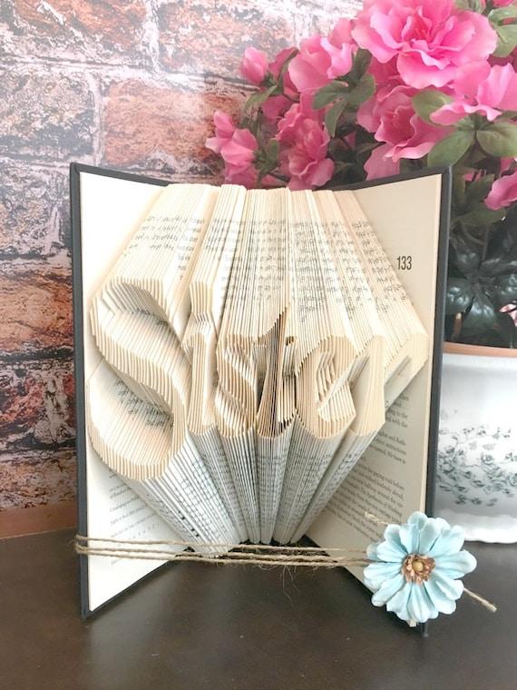 Big Sister Gift Sister Birthday Gift Folded Book Art Book Shelf Decor Sister Gift Ideas