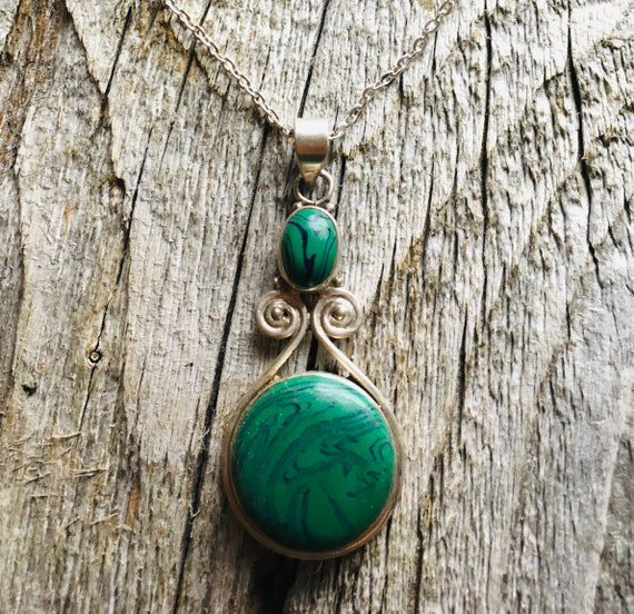Pendants With Stone Gifts for Women Boho Hippie Turquoise Cabochon Oval 6 Grams Gemstone Pendant Necklace Sterling Silver Pendant .925