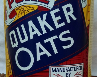 Vintage 1984 Limited Edition Quaker Oats Tin Container