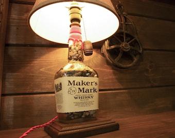 Makers Mark Bourbon Whisky Bottle Lamp