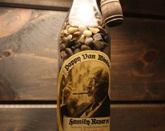 Pappy Van Winkle 15 year Bourbon Bottle Lamp