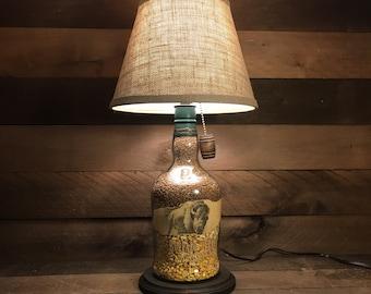 Buffalo Trace Bourbon Bottle Lamp (1.75 liter) / Whiskey Lamp