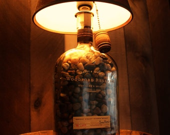 Woodford Reserve Bourbon Bottle Lamp |Whiskey Lamp/ Mancave / Fathers Day Gift / Gifts for him / Groomsmen Gift