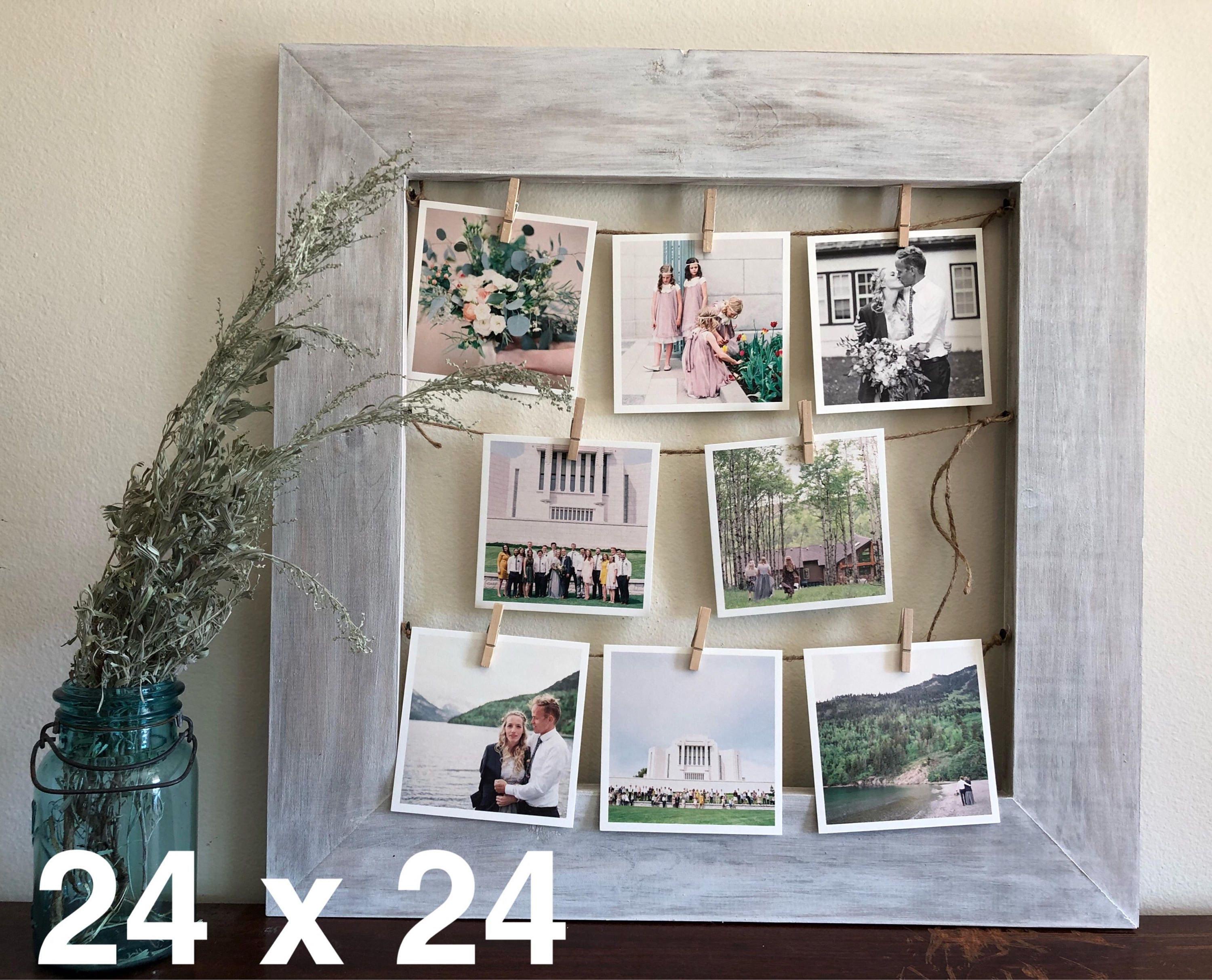 Rustic Clothespin Picture Frame / Photo Display - Wedding Display ...