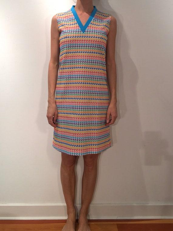 60s Rainbow Super Cute Pride Mini Dress - image 4