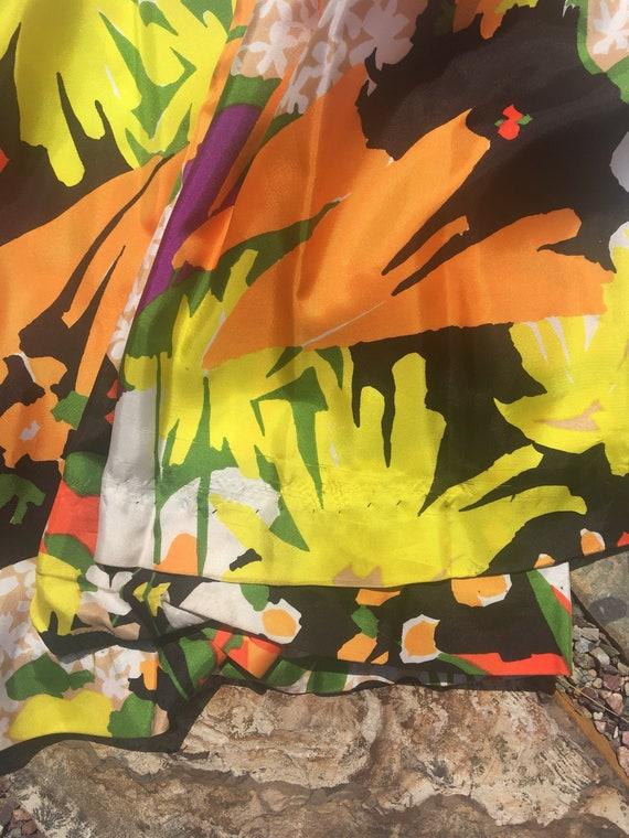 70s palazzo pants jumpsuit amazing multi colored … - image 8