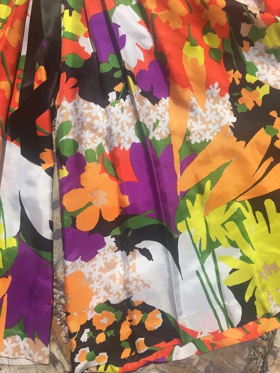 70s palazzo pants jumpsuit amazing multi colored … - image 6