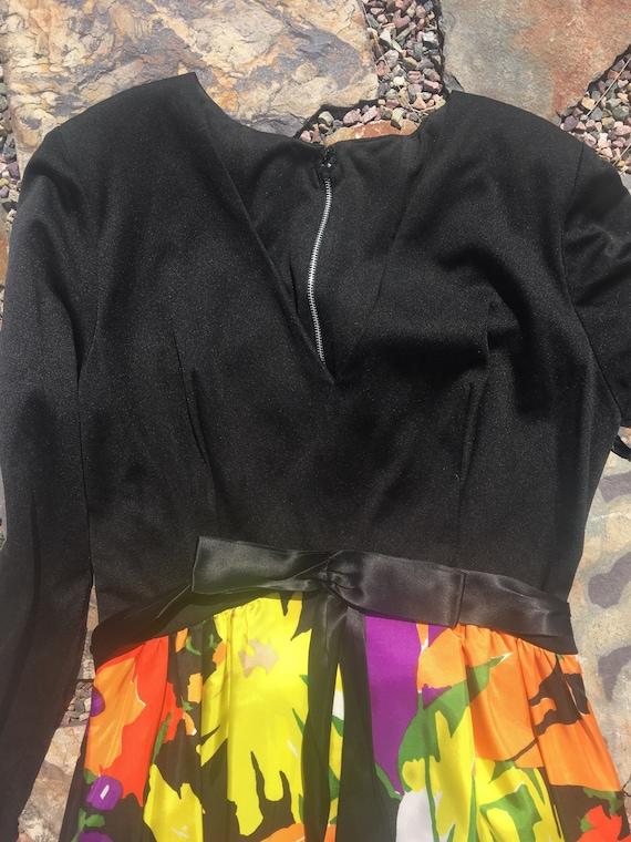 70s palazzo pants jumpsuit amazing multi colored … - image 4