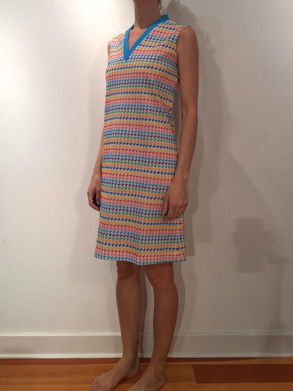 60s Rainbow Super Cute Pride Mini Dress - image 2
