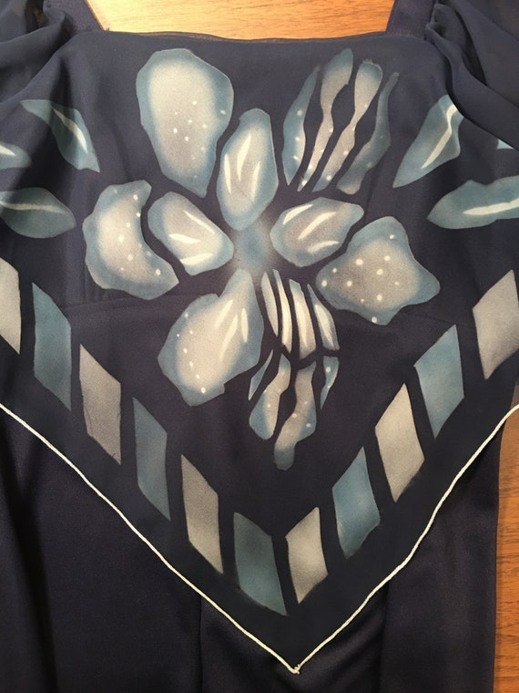70s Flutter Sleeve Disco Studio 54 Maxi Dress - image 6