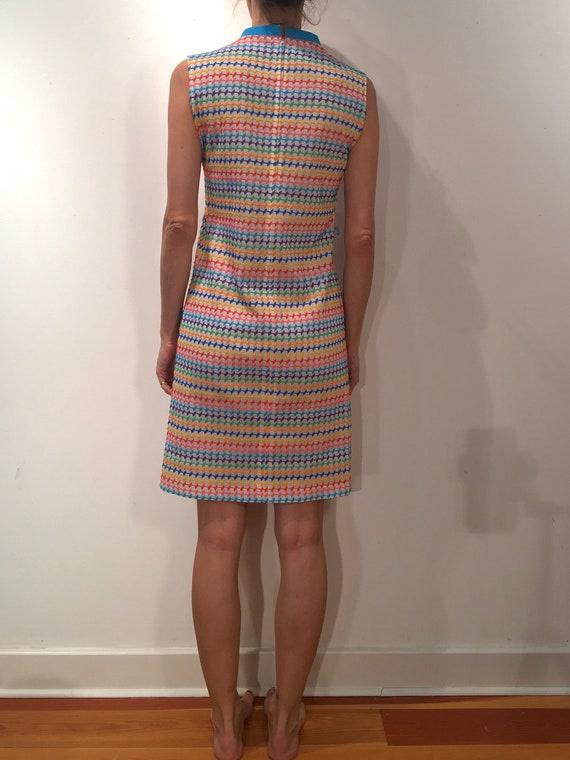 60s Rainbow Super Cute Pride Mini Dress - image 3