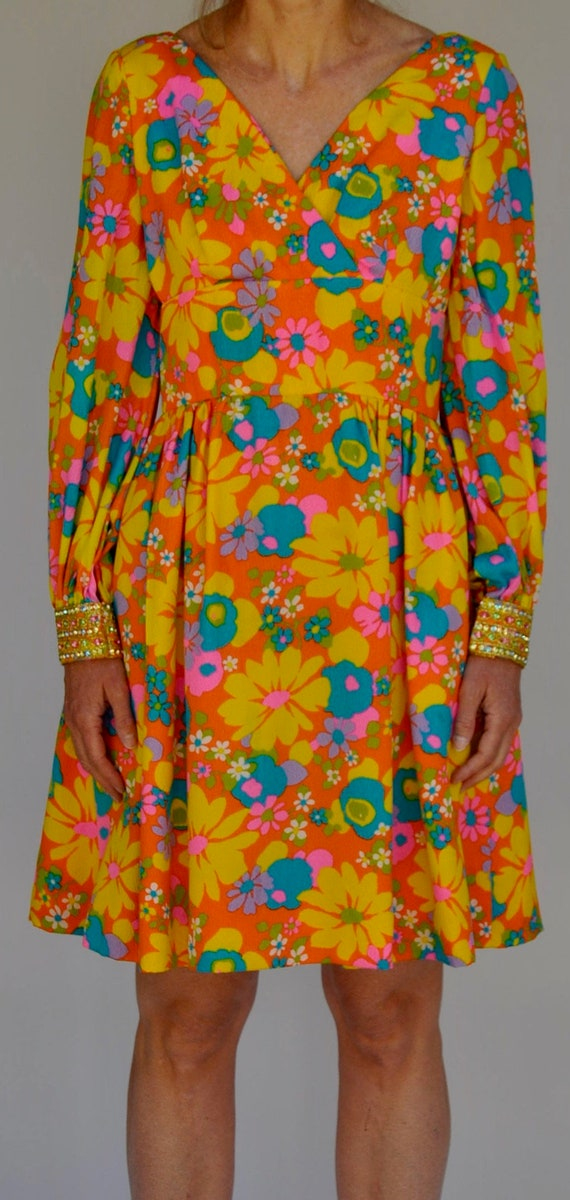 1970's Malcom Starr Disco Style Dress Elinor Simmo