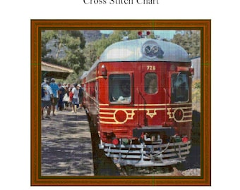 RED TRAIN - Cross Stitch Chart