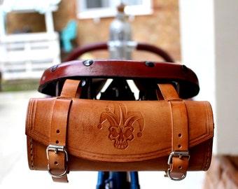 Bicycle Saddle bag Leather Tool Bag Bath Clown