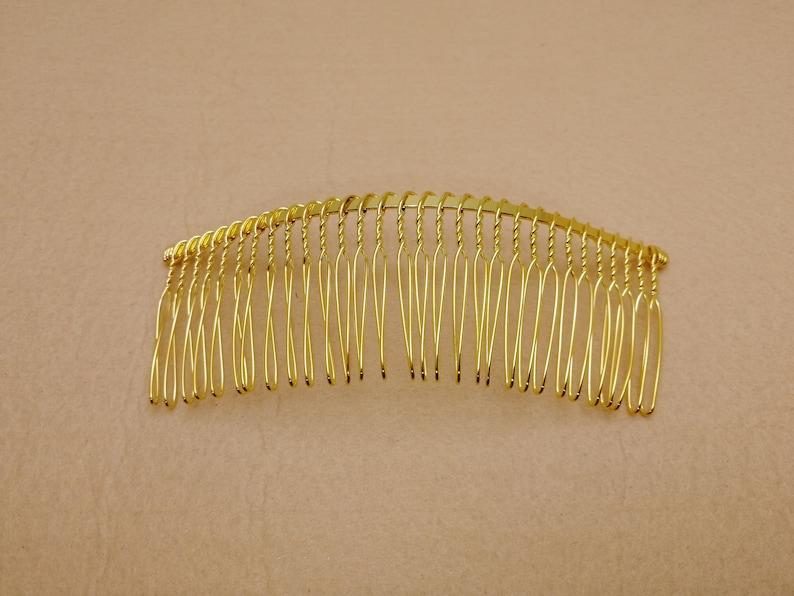 4 colors option 100pcs 120x40mm 30 teeth metal hair wire comb blank ZH51 headband hair head band barrette clip accessory hairband