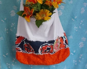 Recycled Tote Bags, Rag Diaper Bags, Summer Beach Bags, Upcycled Beach Bags