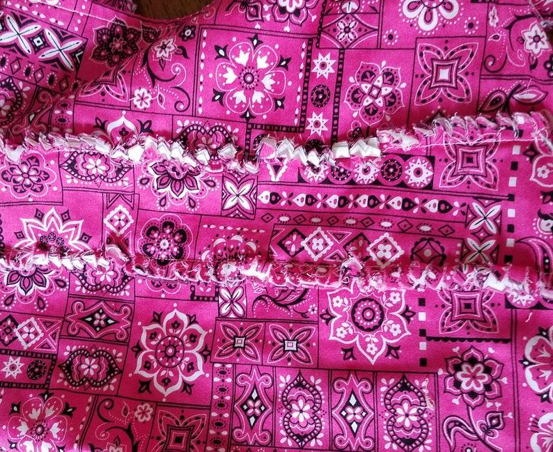 pink upcycled tote bag Pink and black bandana tote bag pink and black beach bag, small travel tote bag upcycled pink tote bag