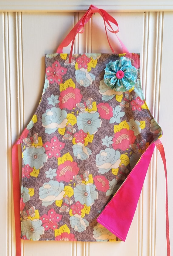 LADYBIRDS TODDLER'S MACHINE WASHABLE LINED CRAFT//COOKING APRON