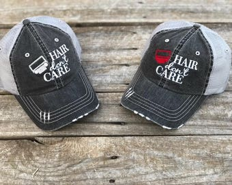 Jeep Hair Don't Care Trucker Hat with Your Choice of Grill Color