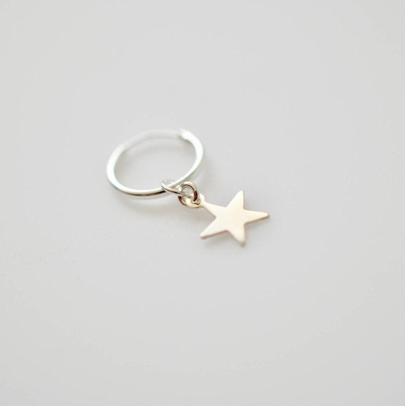 Gold Star Earrings Silver Star Earrings Star Hoop Earrings Hoop Earrings With Star Charms
