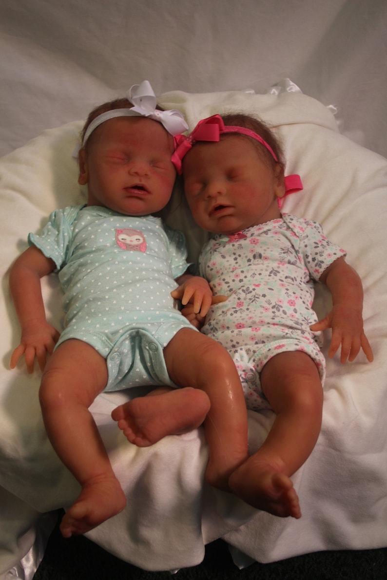 Full Body Silicone Reborn Twins Anatomically Correct Girls