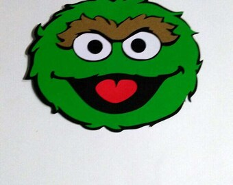 Oscar The Grouch Die Cut From Sesame Street Etsy