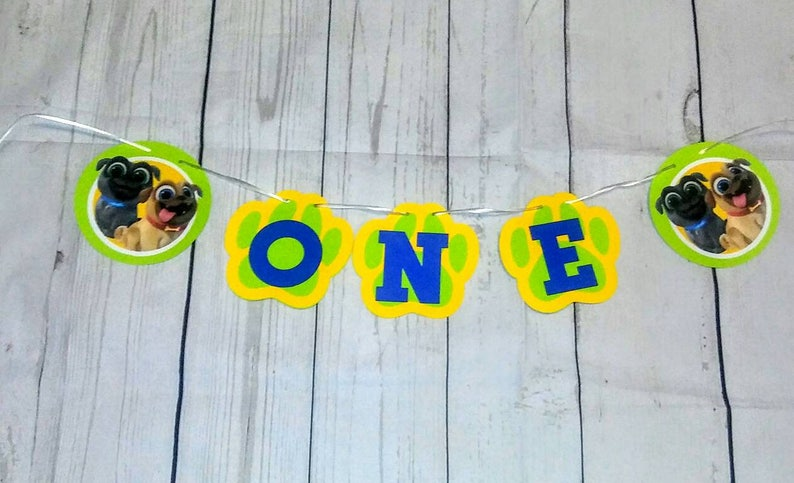 Puppy dog pals birthday banner add name at no extra cost