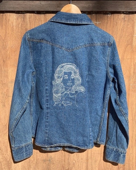 Dolly Parton Embroidered Denim Jacket
