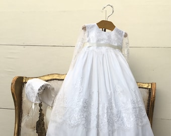 Aurora-christening gown-baptism lace dress-bautizo