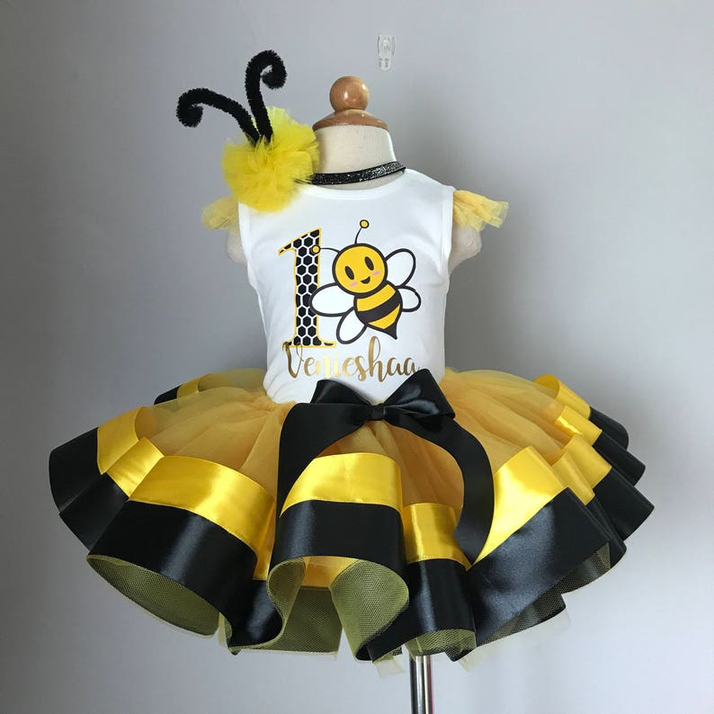 14c074c5e Bumble bee tutu outfit bumblebee costume first birthday | Etsy