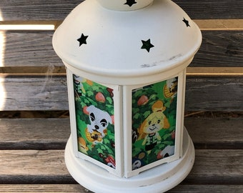 Fun Animal Crossing Lantern, Nightlight.   Perfect for bedside or bathrooms, includes battery tea light