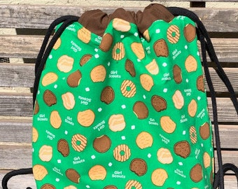 Girl Scout cookie backpack, a fun accessory for any outfit, Canvas lined and bottom for durability, inside pocket