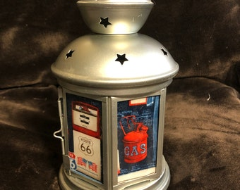 Automotive repair shop Lantern, Nightlight.   Perfect for bedside or bathrooms, includes battery tea light