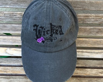 Wicked Embroidered hat on a Baseball trucker dad Hat Cap, Adjustable hat, adult