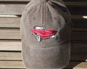 38e385c8125a6 Little Red Corvette (1965-1967) Embroidered on a Baseball Hat Cap