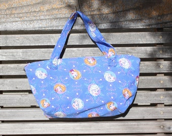 Disney Frozen Anna, Elsa fabric, vinyl lined bag, perfect for snack or lunch, cosmetics, makeup or even as a unique purse or a fun gift bag,